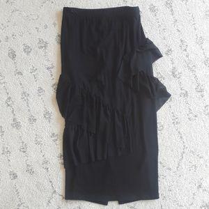 ASOS Maternity Black Pencil Skirt Size 4 NWT